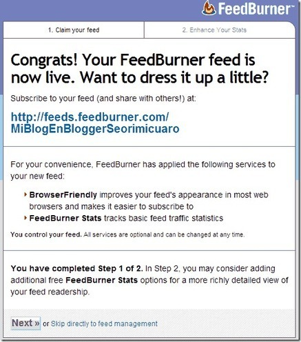 Crear un feed con feedburner - Mi Blog en Blogger seorimícuaro | SEO y Posicionamiento | Scoop.it
