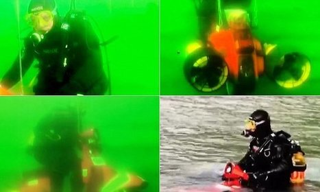Next level off-roading: Stuntman takes his trusty Vespa underwater | ScubaObsessed | Scoop.it