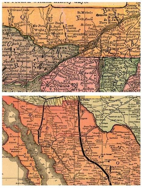 Représentation des frontières : la spécificité de la figuration cartographique des frontières aux États-Unis au XIXe siècle (L'Information géographique) | Mon mémoire sur la frontière et la ligne. | Scoop.it
