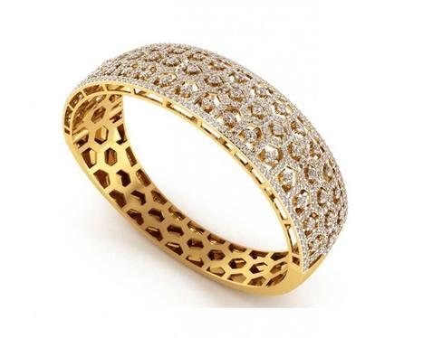 Wide Diamond Half Bangle | Diamond Solitaire Ring | Scoop.it