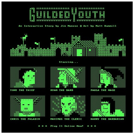 Guilded Youth, a text game with ASCII animation | ASCII Art | Scoop.it
