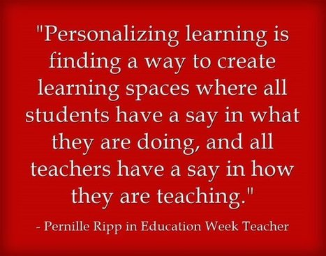Response: Personalized Learning Is 'A Partnership With Students' | PLNs for ALL | Scoop.it