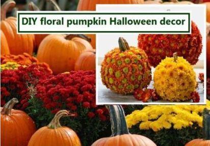 DIY Floral Pumpkin Halloween Decor To Adorn The Abode | furnishing | Scoop.it