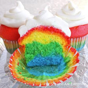 Rainbow Cupcakes…because life isn't always rainbows and skittles… | Recetas de Comida | Scoop.it