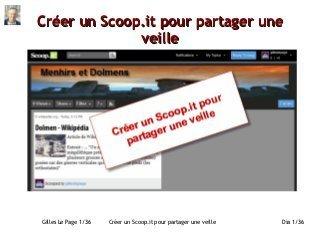 Créer un Scoop.it pour partager une veille | Tutoriel | Outils de veille - Content curator tools | Scoop.it