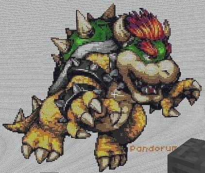 How to Make Pixel Art in Minecraft | random computing | Scoop.it