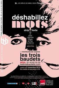Déshabillez mots au Studio des Champs Elysées - Lutetia : une aventurière à Paris | Paris Secret et Insolite | Scoop.it
