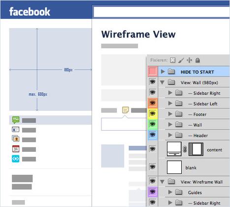 Freebie: Facebook Fan Page GUI PSD   Time to Learn   Scoop.it