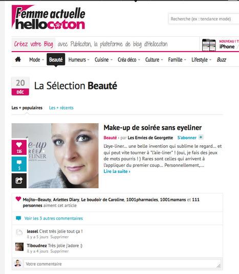 La une Beauté sur hellocoton • vendredi 20 decembre 2013 | Revue de Presse Les Envies de Georgette | Scoop.it