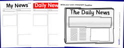 Printable Newspaper Templates from SparkleBox | newspaper | Scoop.it