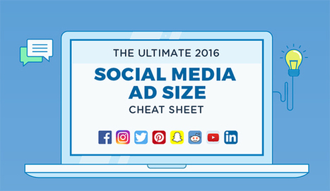 Social Media Advertising: The Ultimate Ad Size Cheat Sheet for 2016 [Infographic] | World of #SEO, #SMM, #ContentMarketing, #DigitalMarketing | Scoop.it