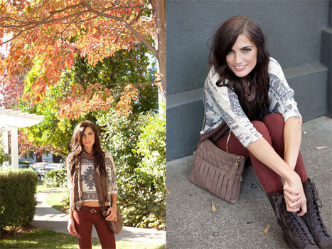 Outfit of the Week Tribal Knit Sweater + Colored Skinny Jeans | La Bella Vita | Fashion | Scoop.it