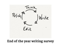 The end of the year writing survey: looking back to plan ahead | Metawriting | Scoop.it