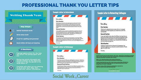 Thank You Letters: How and Why to Write Them @swcareer | School Social Work Effectiveness | Scoop.it