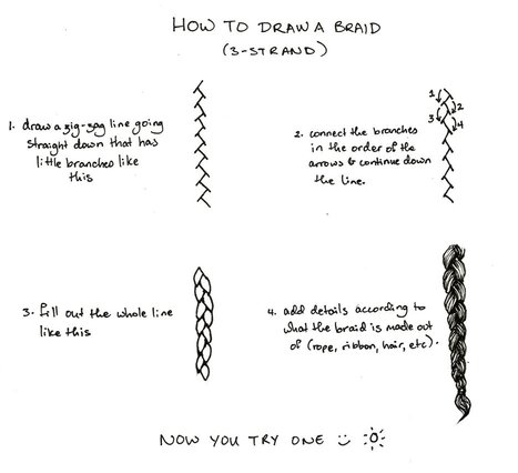 How To Draw a 3-strand Braid | Drawing References and Resources | Scoop.it