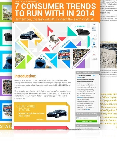 "trendwatching.com's Trend Briefing covering ""7 Consumer Trends To Run With In 2014"" 