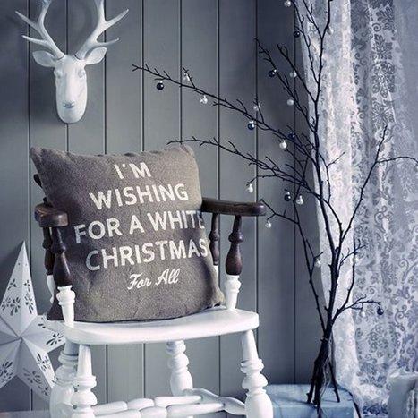 Décoration de Noël : le blanc, grand gagnant ! - Cosmopolitan.fr | Cuisine & Déco de Melodie68 | Scoop.it
