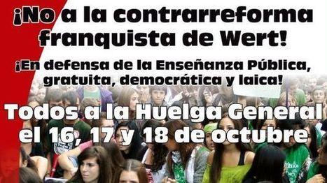 Las 12 ¿razones? para una huelga de estudiantes y padres contra la reforma de Wert   La Mejor Educación Pública   Scoop.it