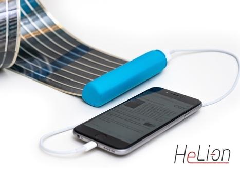 HeLi-on - The World's Most Compact Solar Charger | Cibercultura: una expresión de sujetos rizomaticos contemporáneos | Scoop.it