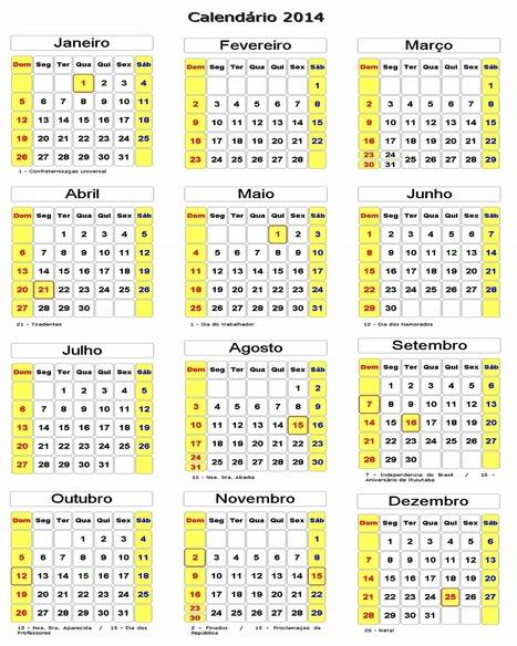 calendario-2014.png (1280x1600 pixels) | Biologia 2014 | Scoop.it