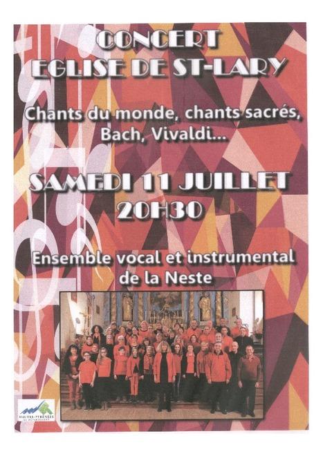 L'ensemble vocal et instrumental de la Neste se produit à Saint-Lary le 11 juillet | Vallée d'Aure - Pyrénées | Scoop.it