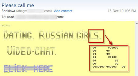 ASCII Art spam makes a comeback | Commtouch Café | ASCII Art | Scoop.it