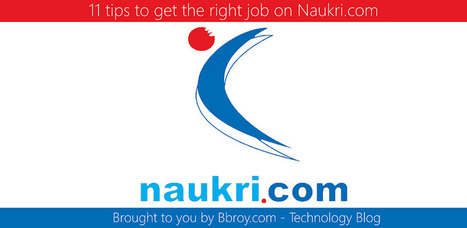 11 tips to get the right job on Naukri.com   Bbroy   Scoop.it