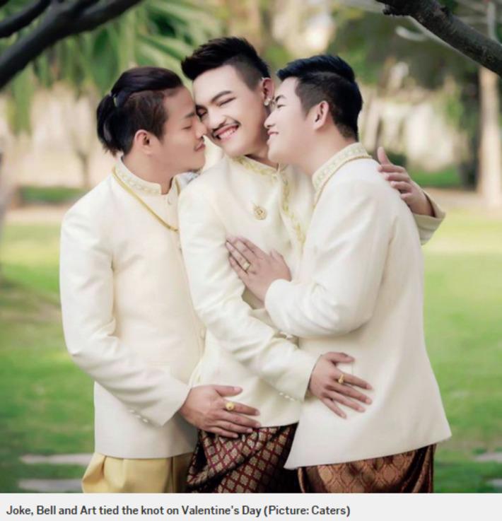 Trio of gay men get married in 'world first' three-way wedding | Sex Positive | Scoop.it