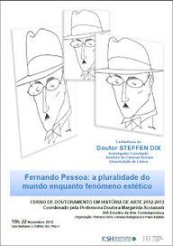 Conferência de Steffen Dix sobre estética em Pessoa | Paraliteraturas + Pessoa, Borges e Lovecraft | Scoop.it