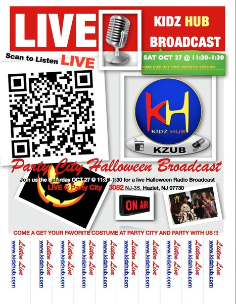 KiDz HuB Live Halloween Broadcast PRINT RIP AND SHARE...DONT MISS IT | Junior Broadcasters | Scoop.it