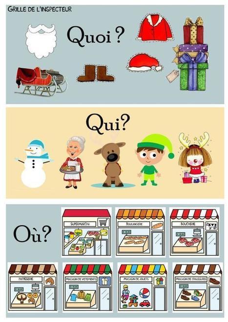 Le cluedo de Noël | la p'tite ecole du FLE | FLE enfants | Scoop.it