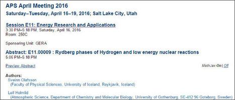 素人が知りたい常温核融合: 米国物理学会APSの4月の会議で常温核融合に関する発表   LENR revolution in process, cold fusion   Scoop.it