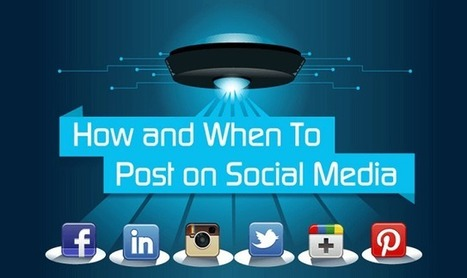 How and When to Post on Social Media #infographic | CIM Academy Digital Marketing | Scoop.it