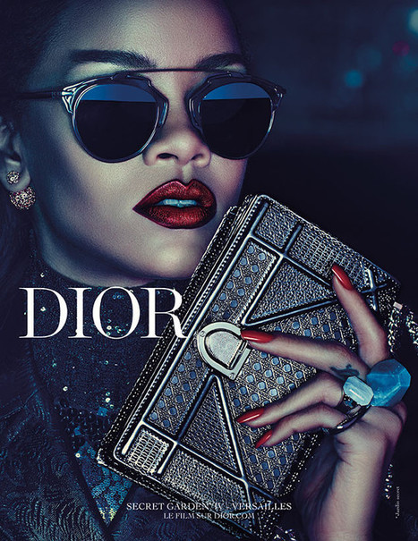 Rihanna Gives her Glamour's Look in Dior Secret Garden Campaign | Think Create and Do | Scoop.it