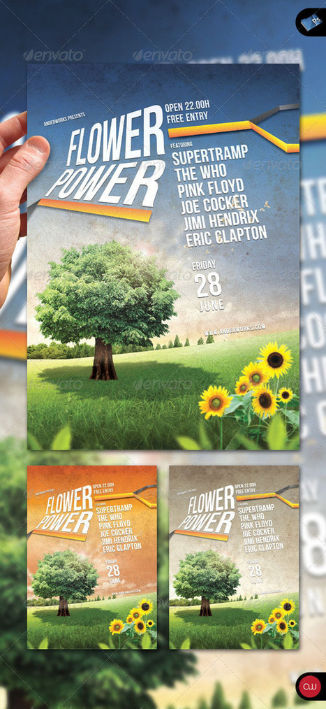 160 Free and Premium PSD Flyer Design Templates – Print Ready - icanbeCreative | General | Scoop.it