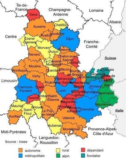 Insee - Territoire - Le Mâconnais entre autonomie et influence lyonnaise volet 1 : la zone d'emploi de Mâcon, un territoire autonome à l'économie solide | La fonction publique | Scoop.it