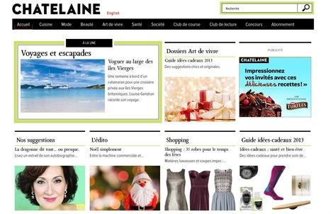 Châtelaine - Recettes, Santé, Reportages, Club de lecture, Mode, Beauté, Vidéos et Blogues. | Beaux sites WordPress | Scoop.it