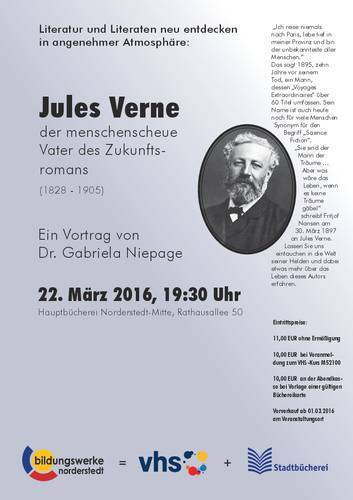 "Bildungswerke Norderstedt: Vortrag: ""Jules Verne"" am 22. März   Jules Verne Aktuelles   Scoop.it"