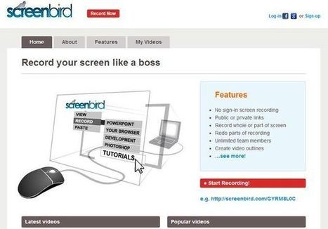 Screenbird: herramienta online para grabar screencasts, publicar los vídeos y compartirlos | NTICs en Educación | Scoop.it