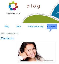 e-ducamos.org: La sección de contacto en un blog | e-ducamos con tecnología | Scoop.it