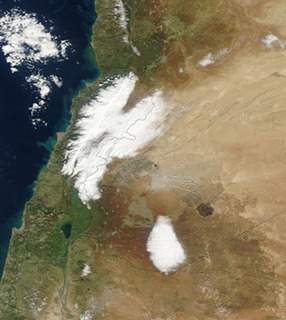 MODIS - Heavy Snow in Lebanon and Syria | Remote Sensing News | Scoop.it