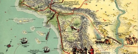 """Eddy's gorgeous """"History of Los Angeles"""" map (1929) 