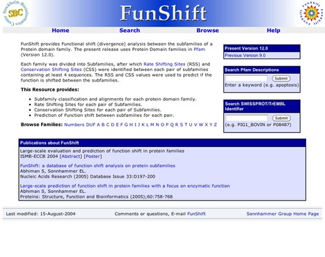 FunShift — a Database of Pfam Subfamilies and Functional Shift Analysis | bioinformatics-databases | Scoop.it