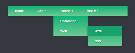 Create a Pure CSS3 Drop Down Menu Tutorial - Bloom Web Design | Web & Graphic Design Tricks from Clear Output | Scoop.it