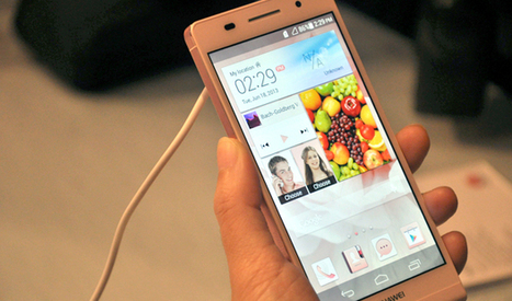 Hands On with Huawei's Ascend P6: World's Slimmest Smartphone | Latest Smartphones of 2013 | Scoop.it