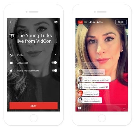 YouTube : le live streaming mobile débarque enfin, Facebook Live et Periscope en ligne de mire | Actualité Social Media : blogs & réseaux sociaux | Scoop.it