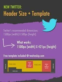 The NEW Twitter Header Dimensions (2015 Update) | Font Lust & Graphic Desires | Scoop.it