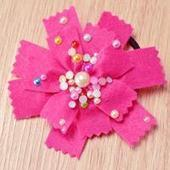 How to Make Cute Felt Flower Hair Ties with Colorful Beads for Girls | fine diy jewelry | Scoop.it