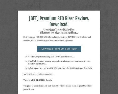[GET] Premium SEO Rizer Review. Download. - Tackk | seo | Scoop.it