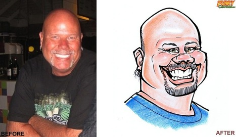 Our latest caricature Color Caricature For Your Facebook Profile Picture | Custom Caricatures | Scoop.it